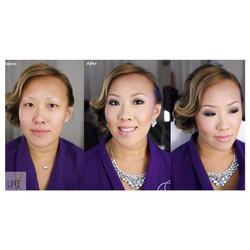 Before & After - #glam makeup design__#hair #makeup #artist #design #beauty #bridal #bride #bridesma