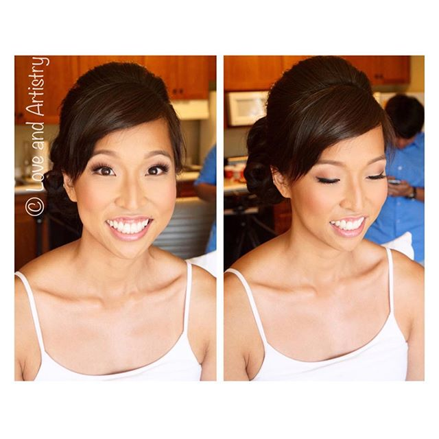 Airbrush makeup for my gorgeous fun and super sweet bride 💝_Hair by equally awesome _styleitso _#ha