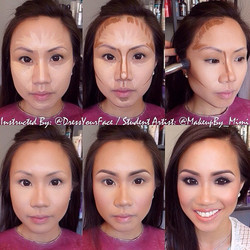 Had an AMAZING time with _dressyourface learning new techniques for contour, HD skin work, eye makeu