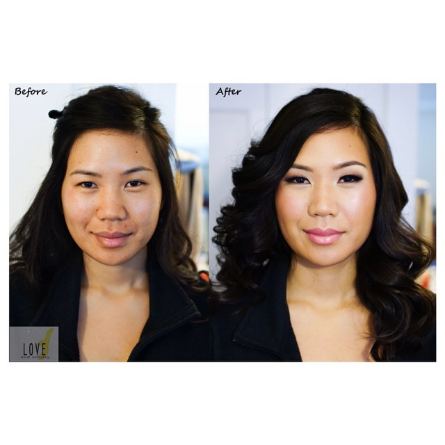 Bridal Hair & Makeup Trial_#Engagement Shoot_Before and After_Using airbrush foundation - longer las