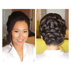 Bridal hair & airbrush makeup today for this beautiful kind and goofy bride 🌸__The night before she