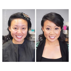 Before and after of this super sweet maid of honor! Such a smart kind lady and dedicated friend to g