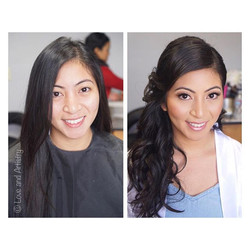 Before and after, hair and airbrush makeup - bride from the past weekend; super kind, caring, and lo