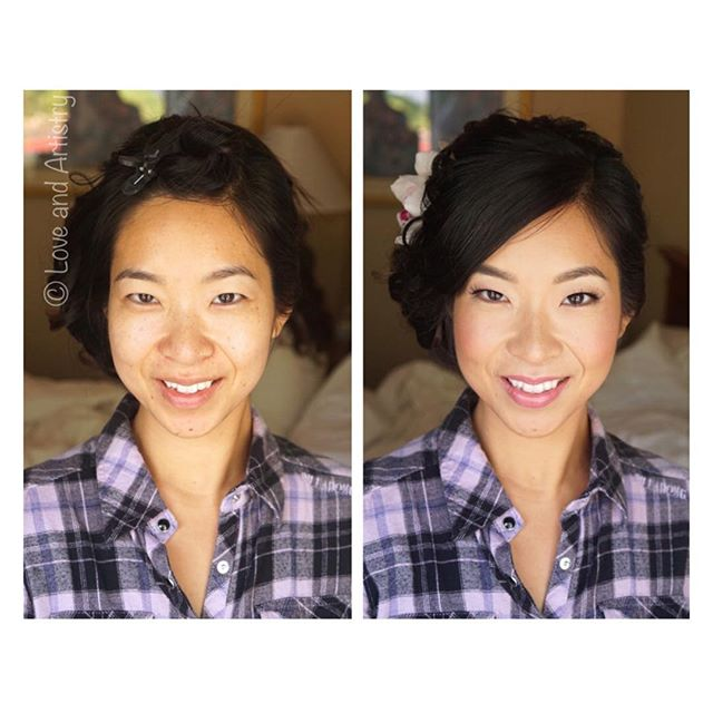 Bridal Hair & Airbrush Makeup - one of the funniest and relaxed brides ever ❤️ love her! _#hair #mak