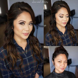 💟 Bridal Hair & Makeup Trial for my beautiful sister from another mister 💕__Love her sweet face! ❤