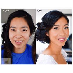 Before & After _Bridal Hair & Makeup Trial__#hair #makeup #artist #design #beauty #bridal #bride #br