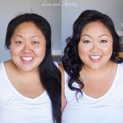 Engagement hair & airbrush makeup design💗_