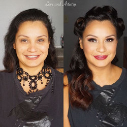 Vintage Glam Hair & Makeup Design for a themed birthday event 🍾__#hair #makeup #artist #design #bea