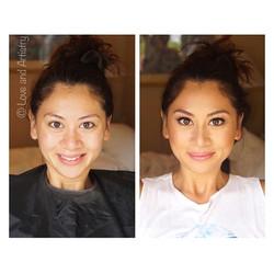 Bridesmaid Makeup Design 💜 before and after__#hair #makeup #artist #design #beauty #bridal #bride #