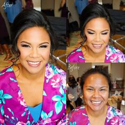 Before&After • Bridal Hair + Makeup ✨_
