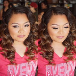 Closer look at my beautiful bride today ❤️ Hair & Airbrush Makeup by me__Hair _ Used my awesome inte