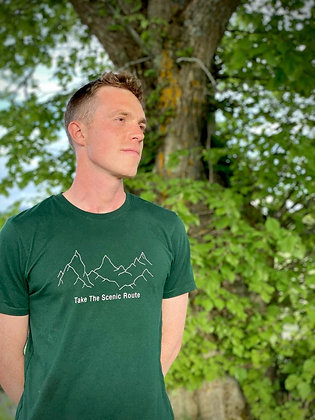 Take The Scenic Route Recycled Tee Green
