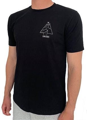 Unisex Earth Positive - Classic Jersey Organic Mountain T - Black
