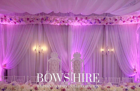 Uplighter Backdrop with Chandeliers