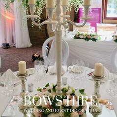 100cm White Candelabra with Flowers