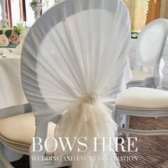 White Louis Chairs at South Lodge Hotel