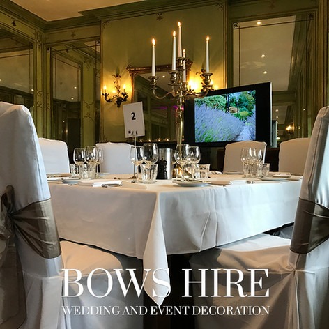 Linen Chair Cover at Hotel Du Vin
