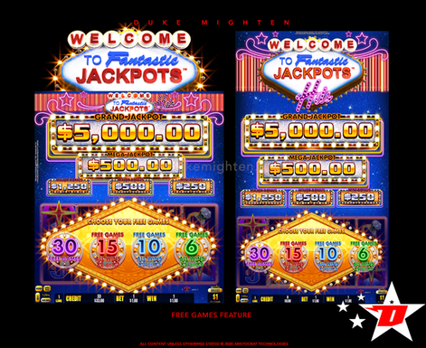 Welcome To Fantastic Jackpots HITS Free Games Feature selection