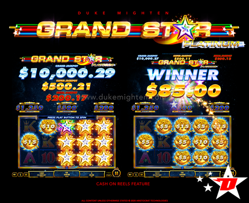 GRAND STAR Platinum Cash On Reels feature