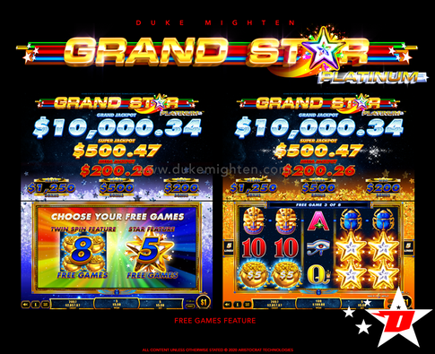 GRAND STAR Platinum Free Games: Twin Reels and Star feature
