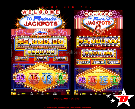 Welcome To Fantastic Jackpots PAYS Free Games selection screen