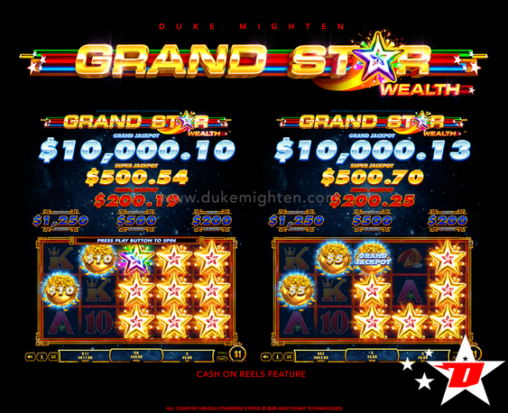GRAND STAR Wealth Cash On Reels feature