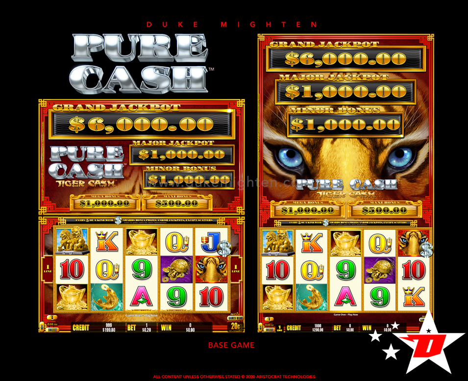 Pure Cash TIGER CASH Base Game