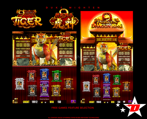 9 Princes of the Dragon King TIGER Free Games Feature selection