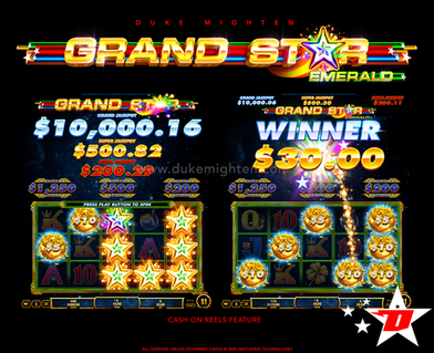 GRAND STAR Emerald Cash On Reels feature
