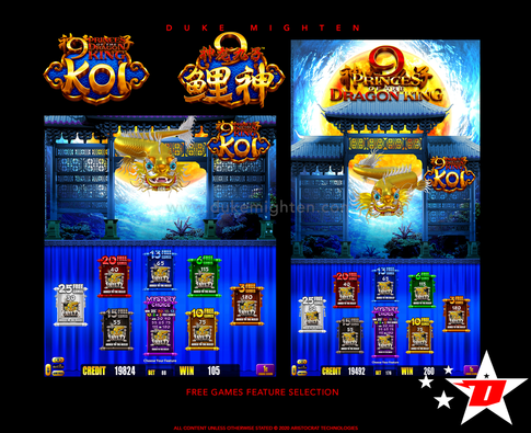 9 Princes of the Dragon King KOI Free Games Feature selection