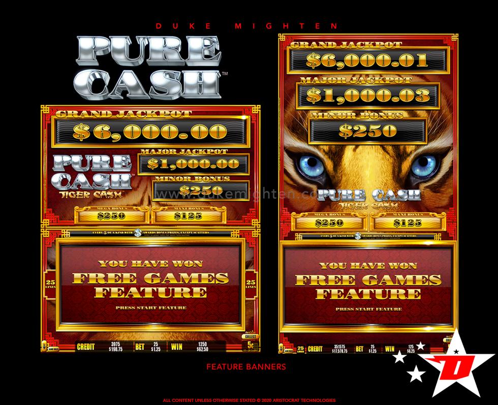 Pure Cash TIGER CASH Feature Banners
