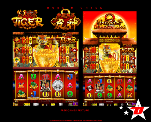 9 Princes of the Dragon King TIGER Free Games Feature