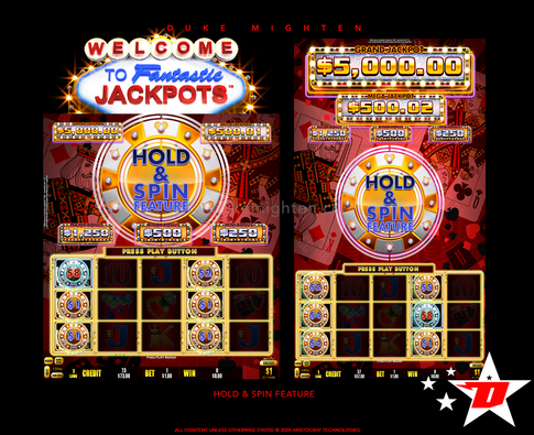 Welcome To Fantastic Jackpots HITS Hold & Spin Feature