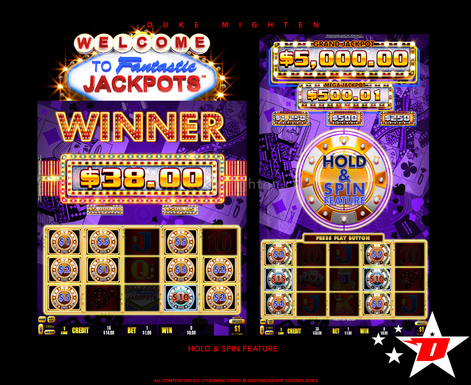 Welcome To Fantastic Jackpots PAYS Hold & Spin Feature