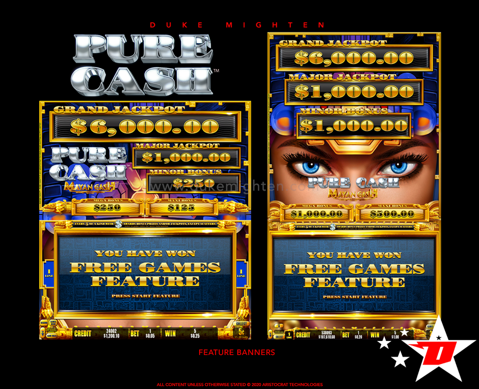 Pure Cash MAYAN CASH Feature Banners