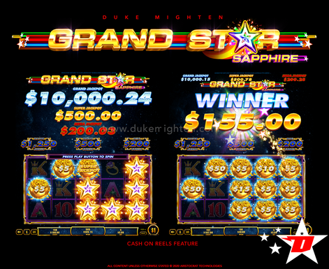 GRAND STAR Sapphire Cash On Reels Feature
