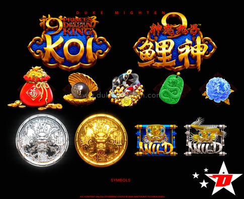 9 Princes of the Dragon King KOI  symbols