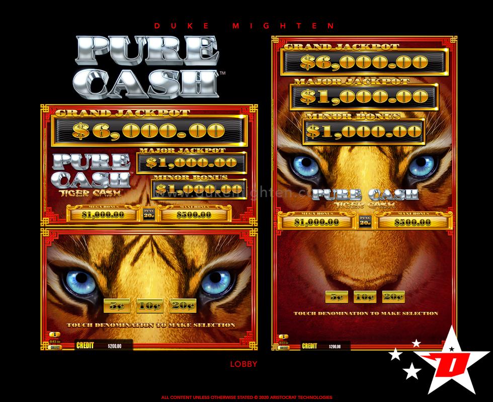 Pure Cash TIGER CASH Lobby