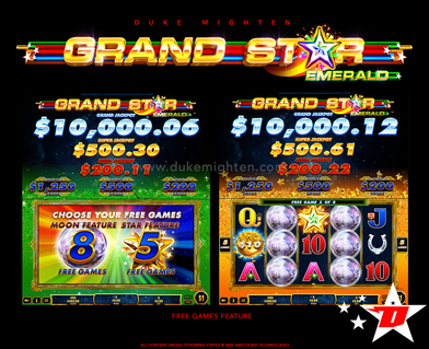 GRAND STAR Emerald Free Games feature