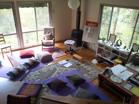 Sound Bath Meditation room by my cosy fire