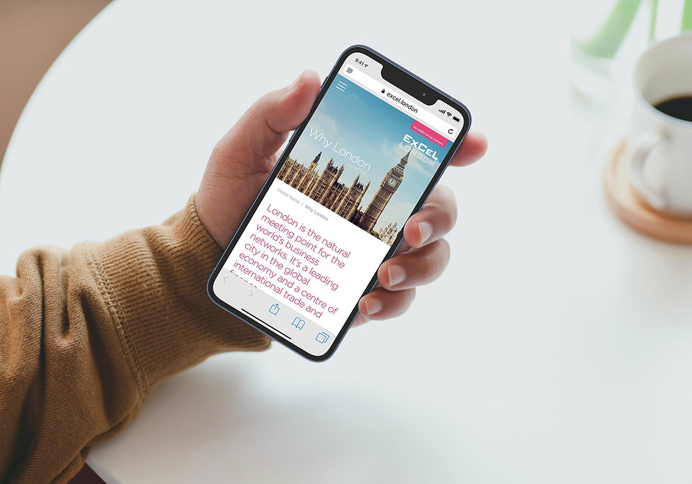 Why London page mobile design shown on an iPhone