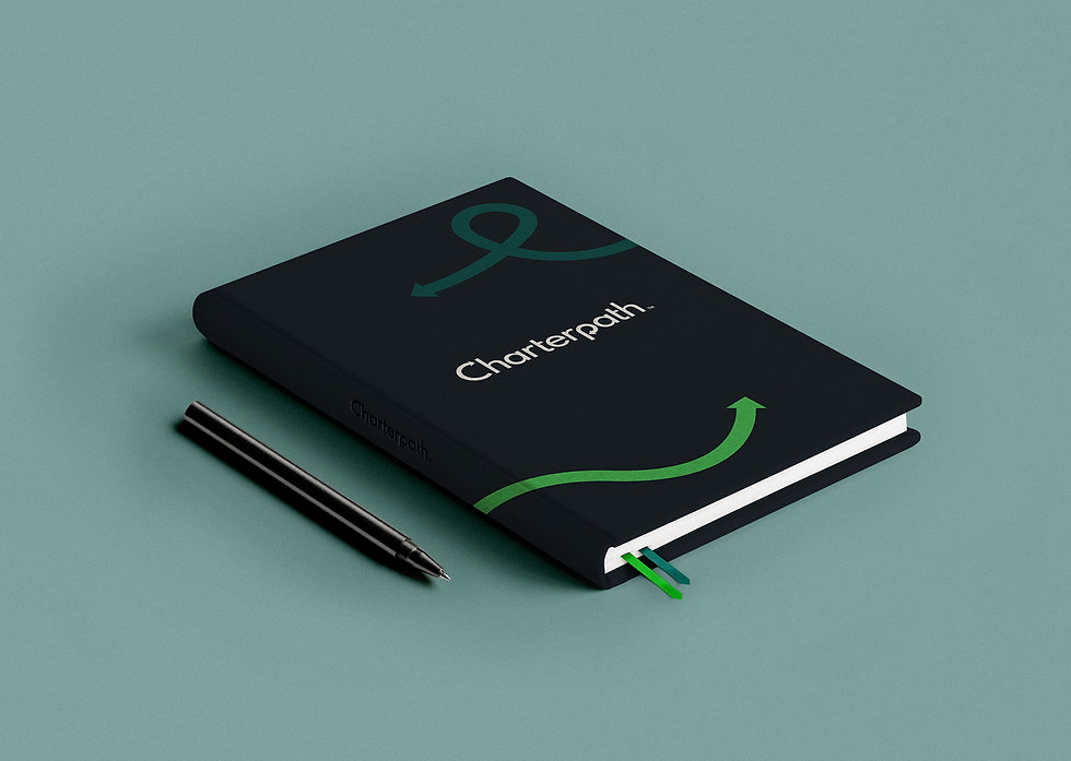 Charterpath branded notebook