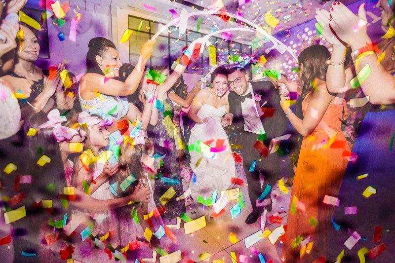 Amazing shot of a Jewish wedding celebration