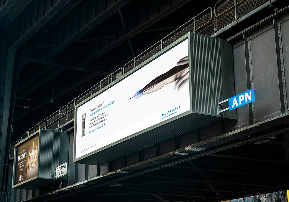 Outdoor advertising at a medical event in America
