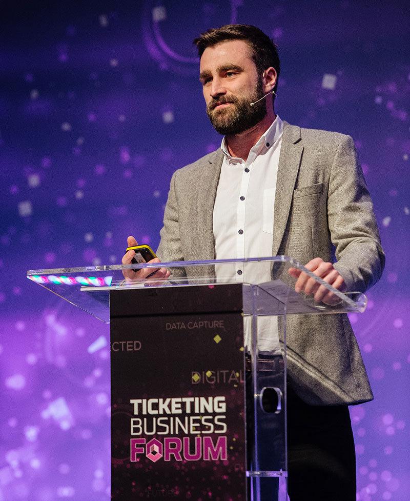 Presenter at Ticketing Business Forum event