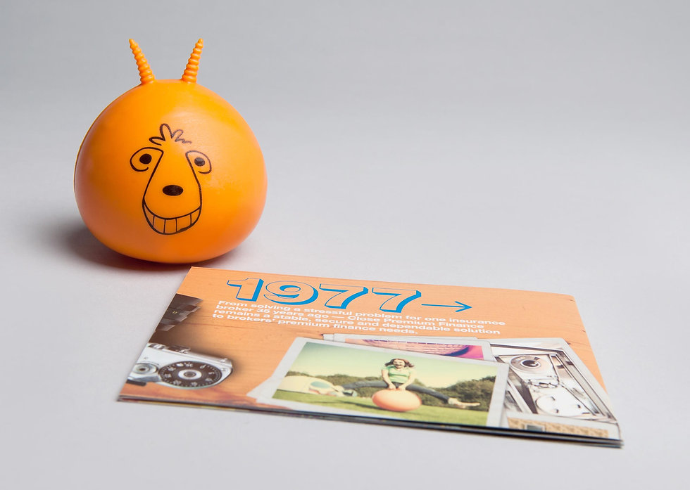 Spacehopper stress ball with campaign booklet