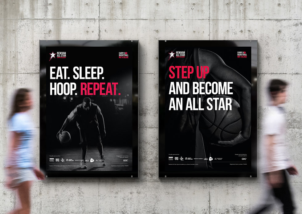 Large format posters advertising NASSA