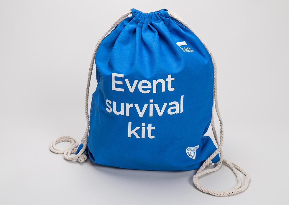Event stand giveaway event survival kit