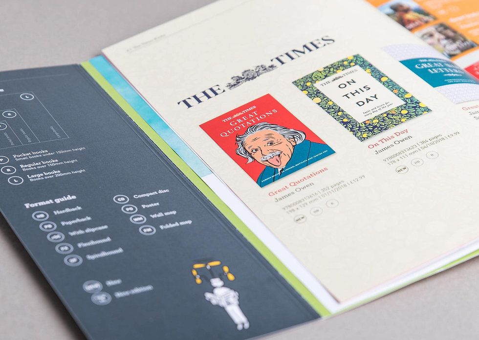 Catalogue open on The Times collection