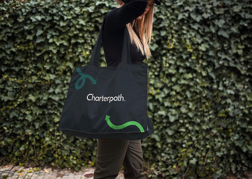Charterpath branded shoulder bag